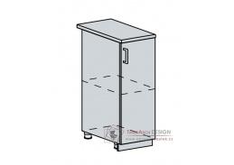 CHARLIZE, dolní skříňka 1-dveřová 30D, bílá / bílé dřevo