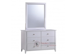 JAVA 06, komoda se zrcadlem, bílá