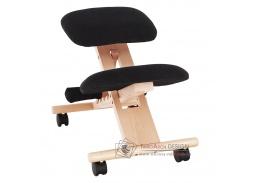 GROCO, ergonomická klekačka, buk / látka černá