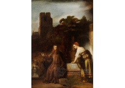 D-8052 Rembrandt - Kristus a žena ze Samarie