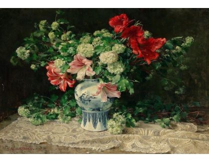 Slavné obrazy XVI-400 Clara von Sivers - Květinové zátiší s liliemi