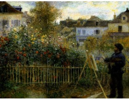 KO III-46 Auguste Renoir - Monet malující obraz v jeho zahradě