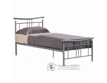 DORADO, kovová postel 90x200cm, stříbrná