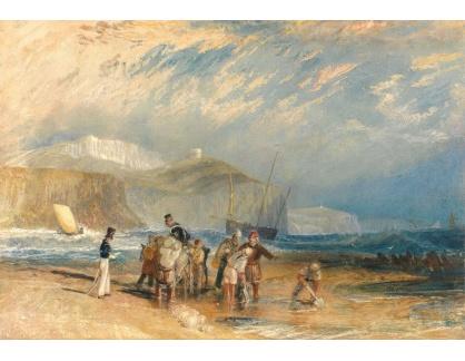 Joseph Mallord William Turner - Přístav Folkestone a pobřeží Doveru