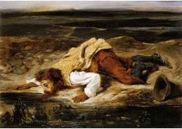 VEF 12 Eugene Ferdinand Victor Delacroix - Smrtelně zraněný Brigand hasí žízeň
