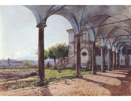 VALT 63 Rudolf von Alt - Pohled z kláštera Sant Onofrio v Římě
