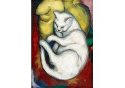 Obraz VFM 12 Franz Marc - Kočka na žlutém polštáři