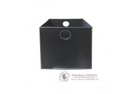LEXO-TOFI, úložný box, ekokůže černá