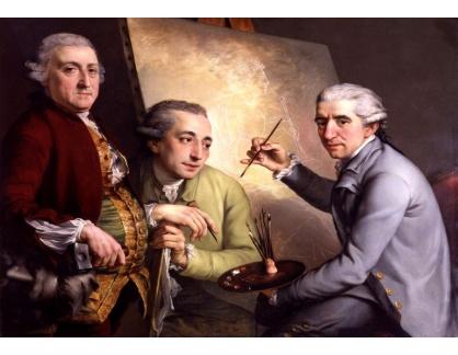 VANG171 John Francis Rigaud - Portréty Agostino Carlini, Francesco Bartolozzi a Giovanni Battista Cipriani