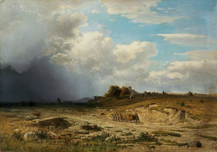 Obraz VCM 630 Adolf Kosárek - Podzimní krajina u Pardubic