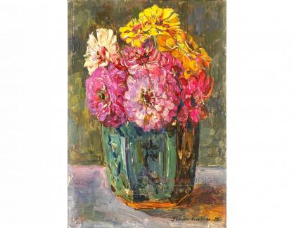 VH638 Floris Verster  - Zátiší s květinami v cínové váze