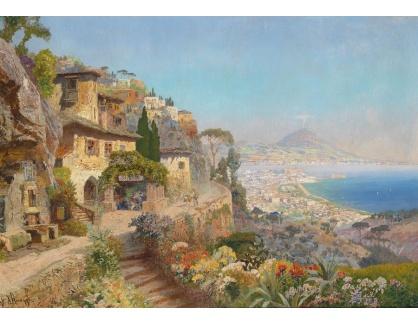 Slavné obrazy XVI-141 Alois Arnegger - Motiv z neapolského zálivu