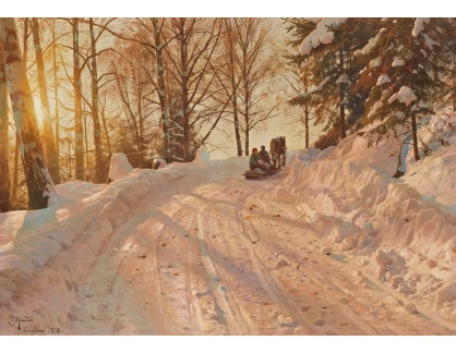 Krásné obrazy VI-194 Peder Mork Monsted - Zimní krajina
