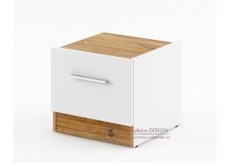 DENTRO DT-03, noční stolek - pravý, bílá / dub stirling