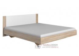 MIRABEL 291, postel 140x200cm, dub / bílá