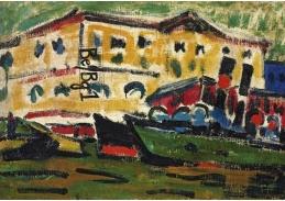 VELK 105 Ernst Ludwig Kirchner - Domy v Drážďanech