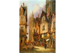 Slavné obrazy VII-128 Henry Thomas Schafer - Lisieux v Normandii
