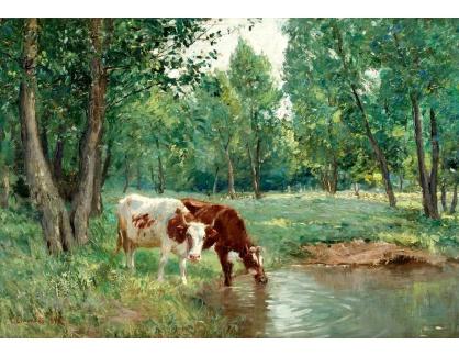 Slavné obrazy IV-116 Carl Tragardh - Krajina s krávami