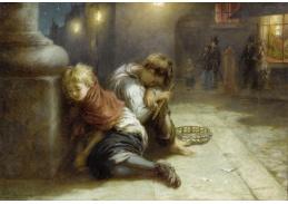 Slavné obrazy XI-81 Augustus Edwin Mulready - Unavení hudebníci