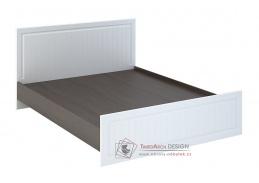 PRAGA, postel 140x200cm KP-900, wenge / bílá