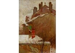 D-7809 Egon Schiele - Domy v zimě