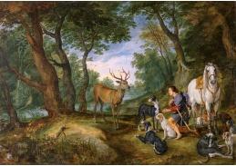 BRG-104 Jan Brueghel - Vidění svatého Huberta