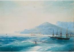 VR-358 Ivan Konstantinovič Aivazovsky - Lodě v blízkosti pobřeží