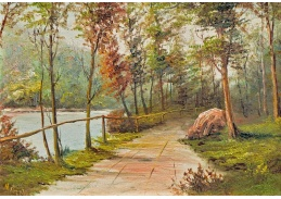 Slavné obrazy VI-100 Frederick Matzow - Krajinomalba
