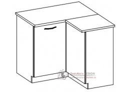 CHAMONIX II, dolní skříňka rohová DRP - pravá, dub ferrara / dub tmavé legno