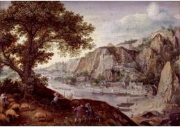 D-9553 Lucas van Valckenborch - Huy při pohledu z Ahin