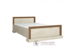 ROYAL L1, postel 160x200cm, borovice bílá / dub divoký