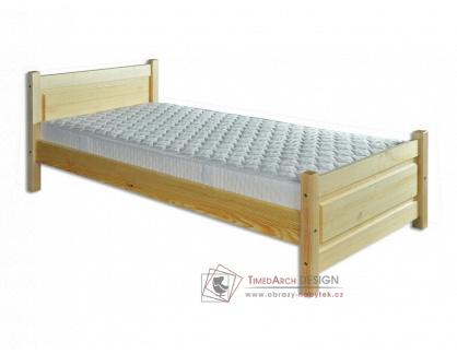 KL-129, postel 100x200cm, borovicový masiv