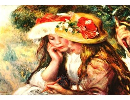 VR14-21 Pierre-Auguste Renoir - Dvě mladé dívky při čtení v zahradě