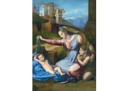 R11-138 Rafael Santi - Madonna s s modrou čelenkou