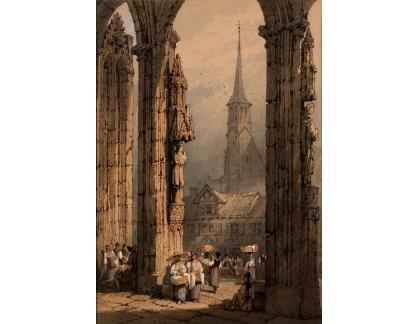 VANG135 Samuel Prout - Portál katedrály