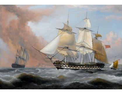 VL24 Dominic Serres - Kapitán George Montagu of the Pearl a španělská fregata To Santa Monica u Azor 14.9.1779