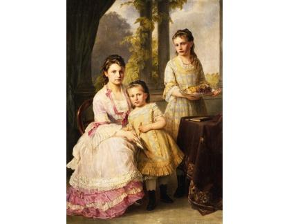 Krásné obrazy II-252 Joseph Hartmann - Tři sestry
