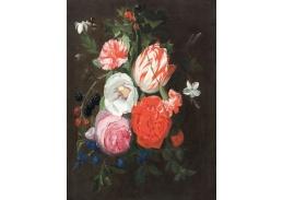 D-6506 Jan Philip van Thielen - Květinové zátiší s ostružinami, borůvkami a čmeláky
