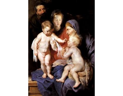VRU84 Peter Paul Rubens - Svatá rodina se svatou Alžbětou a Janem Křtitelem