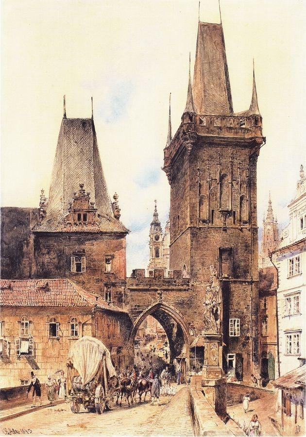 VALT 107 Rudolf von Alt - Pohled na Karlův most v Praze