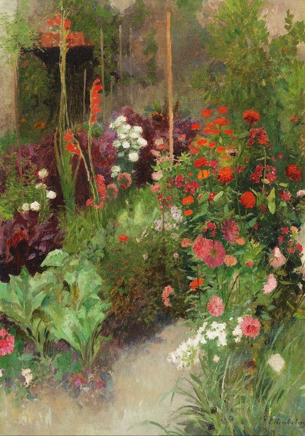 Slavné obrazy I-DDSO-102 Ernestine von Kirchsberg - Zahrada na statku