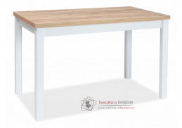 ADAM, jídelní stůl 100x60cm, dub craft zlatý / bílá