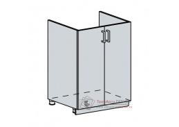 VERONA, dolní skříňka 2-dveřová pod dřez 60DZ, bílá / jasan šimo