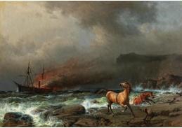 D-9270 Anton Melbye - Potopení Anglosaska 27. dubna 1863