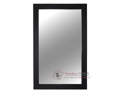 MALKIA 1, zrcadlo, dřevěný rám černé barvy