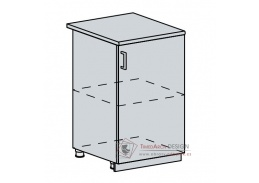 PROVENCE, dolní skříňka 1-dveřová 50D, bílá / světle modrá