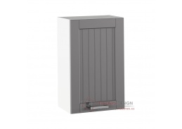 JULIA 05, horní skříňka 1-dveřová, bílá / tmavě šedá