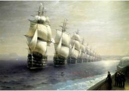 DDSO-3631 Ivan Konstantinovič Aivazovskij - Přehlídka černomořské flotily v roce 1849
