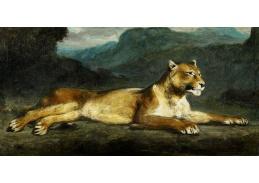 D-8340 Eugene Delacroix - Ležící lvice