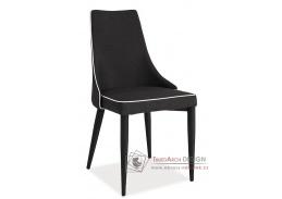 Jídelní čalouněná židle SOREN černá látka